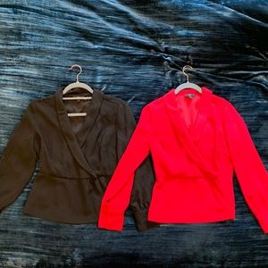 Banana Republic - Black and Red Blouses
